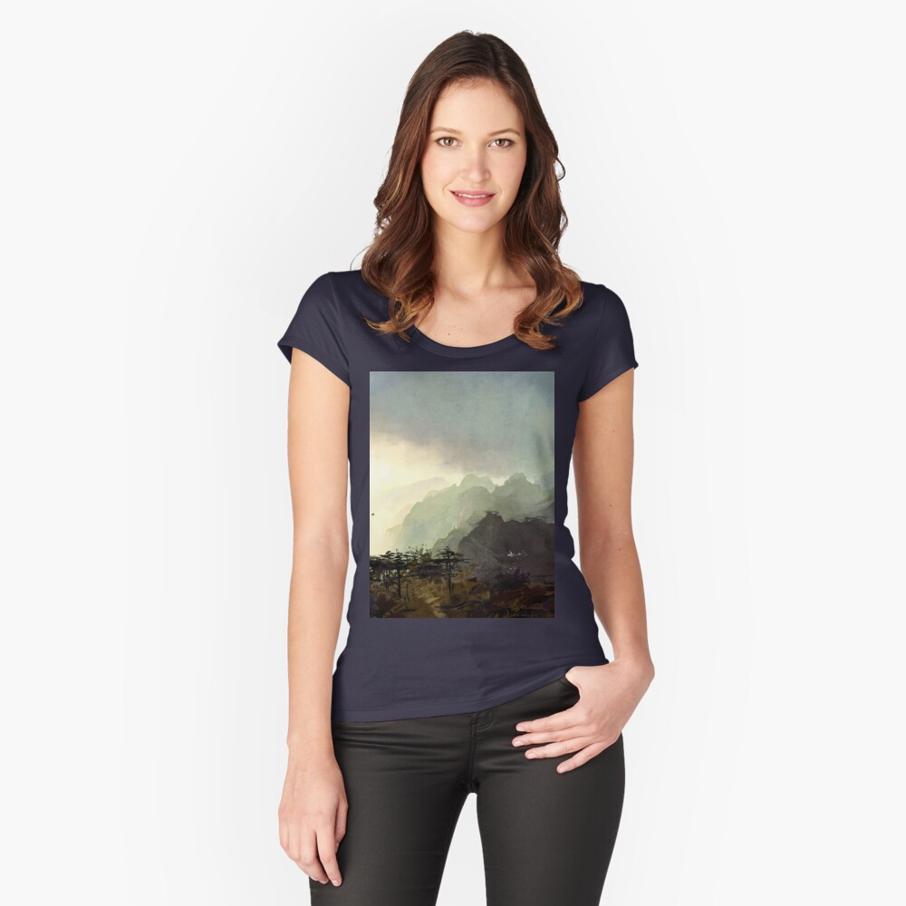 Misty Mountain Women's Fitted Scoop T-Shirt Front