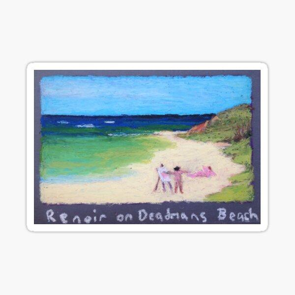 RENOIR ON DEADMANS BEACH Sticker