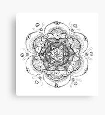 Flower Merkaba Ink Pen Drawing Canvas Print