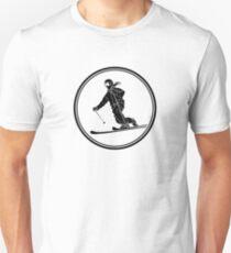 Womens Telemark Skiing Unisex T-Shirt