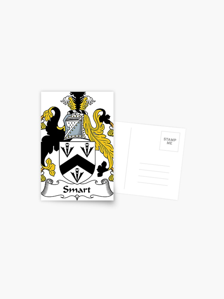 Smart Coat Of Arms Smart Family Crest Postcard By Scotlandforever Redbubble