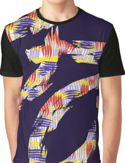 abstract brush Graphic T-Shirt