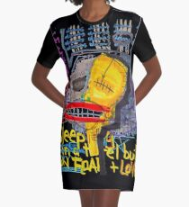 Sleeping in a Hotel Built on Fear & Love Graphic T-Shirt Dress