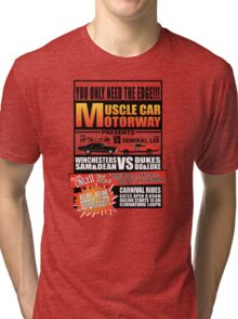 MuscleCar Motorway - Winchesters Vs Dukes Tri-blend T-Shirt