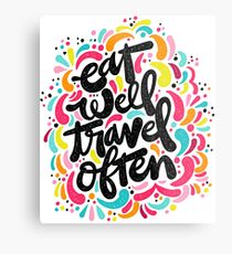 Eat & Travel Metal Print