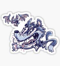Wolf & Bat Sticker