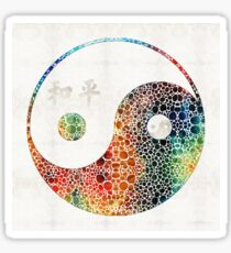 Yin And Yang - Colorful Peace - By Sharon Cummings Sticker