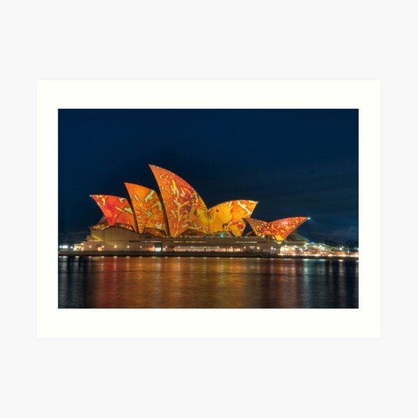 Opera House in the Colours of the Outback Art Print