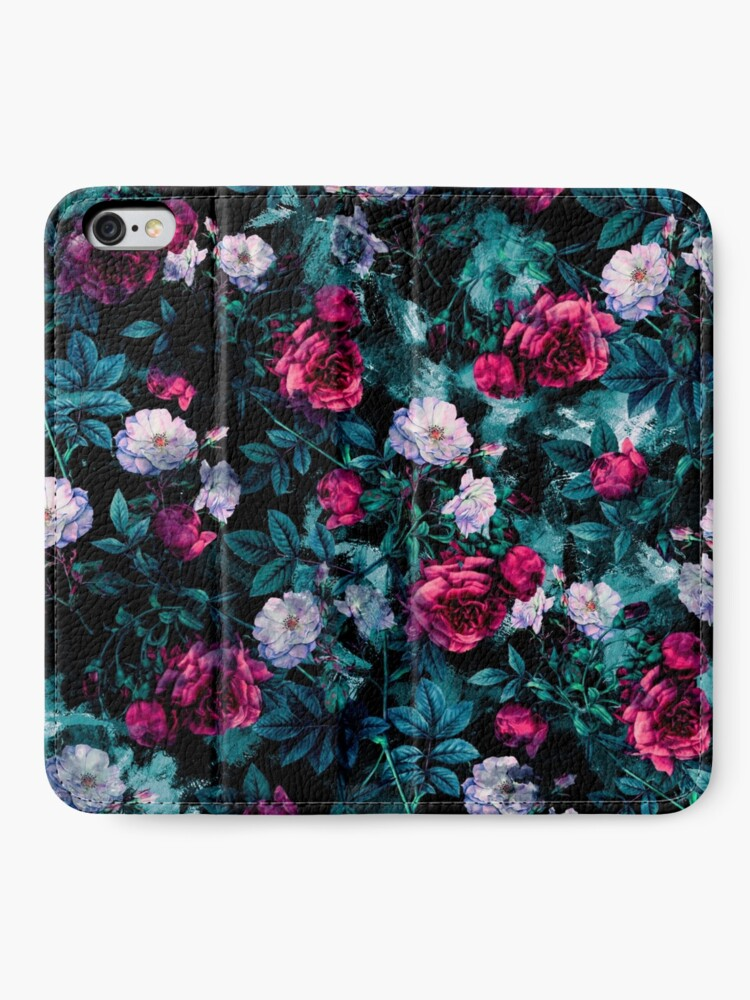 Alternate view of RPE FLORAL ABSTRACT III iPhone Wallet