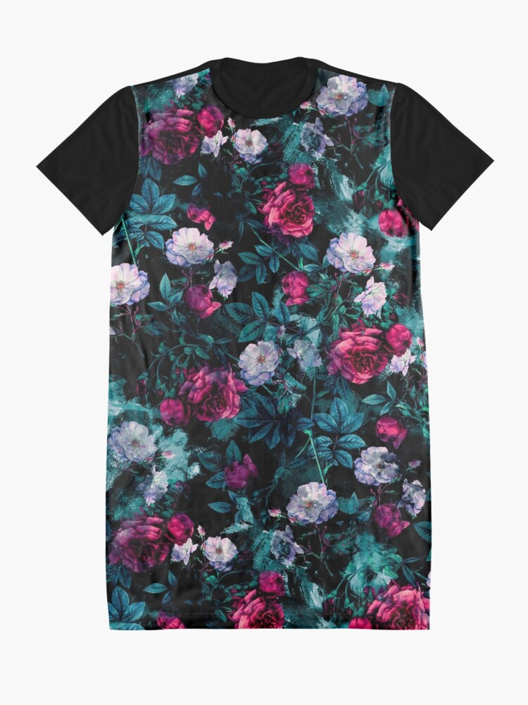 Alternate view of RPE FLORAL ABSTRACT III Graphic T-Shirt Dress