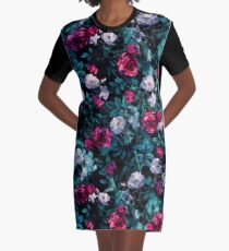 RPE FLORAL ABSTRACT III Graphic T-Shirt Dress