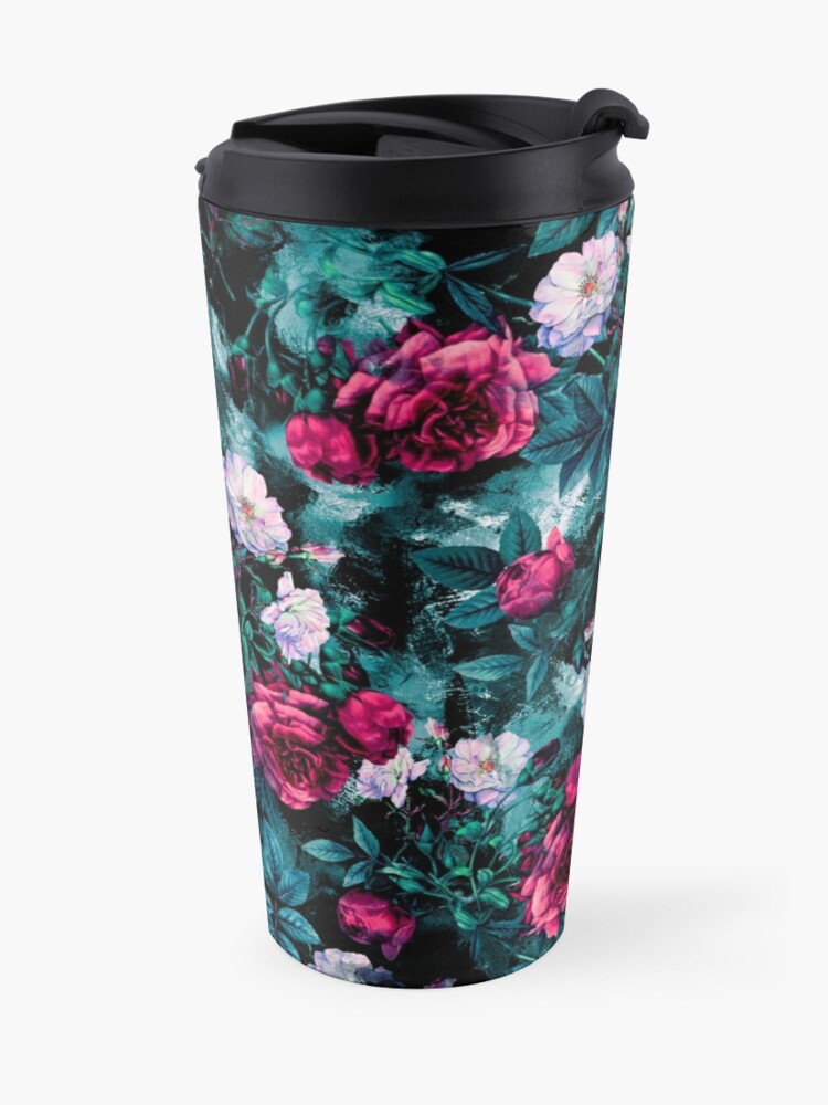 Alternate view of RPE FLORAL ABSTRACT III Travel Mug