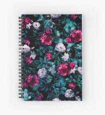 RPE FLORAL ABSTRACT III Spiral Notebook