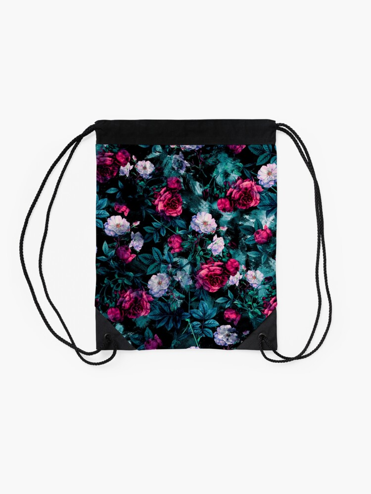 Alternate view of RPE FLORAL ABSTRACT III Drawstring Bag
