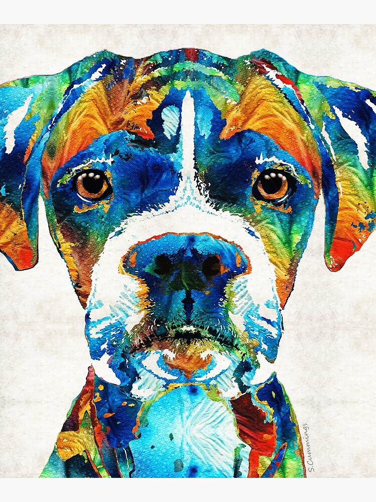 Colorful Boxer Dog Art By Sharon Cummings  by SharonCummings