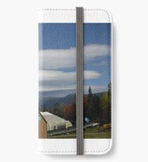 Lenticular clouds over mount Washington.  iPhone Wallet/Case/Skin