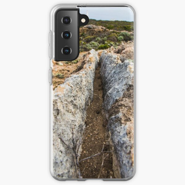 Rugged Australian coastline looking out to the Cape Nelson Lighthouse along the Great Ocean Road Samsung Galaxy Soft Case