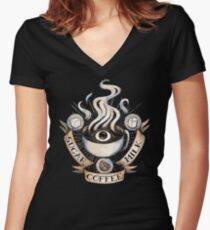 The Holy Trinity of Caffeine Women's Fitted V-Neck T-Shirt