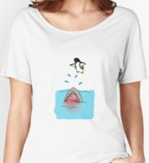 Jetpack Penguin Women's Relaxed Fit T-Shirt