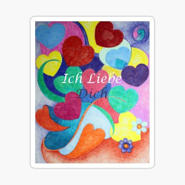 Ich Liebe Dich I love you Sticker