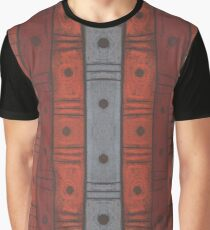 Stripes and dots in earth tones, abstract pattern, handdrawn, pastel texture Graphic T-Shirt