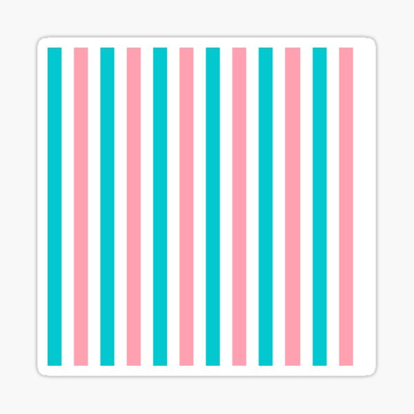 Pink and Blue Vertical Lines Sticker