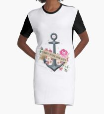 Navy Wife for Life Graphic T-Shirt Dress