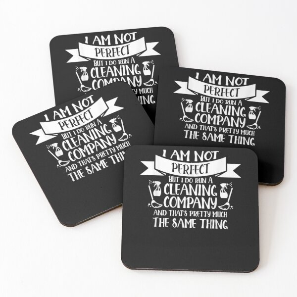 House Cleaning Housekeeping Maid Services Novelty Humor  Coasters (Set of 4)