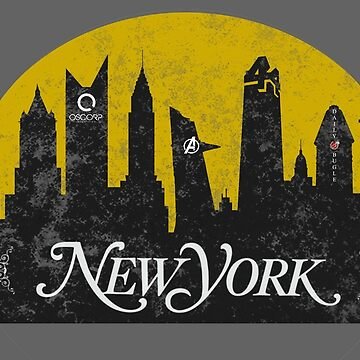 New York (The Cities of Comics) by thatKONNORguy