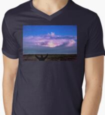 Cheering Nature On Mens V-Neck T-Shirt
