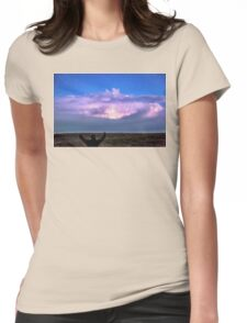Cheering Nature On Womens Fitted T-Shirt