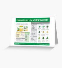 Cook Smarts' Simple Vinaigrette Cooking Formula Greeting Card
