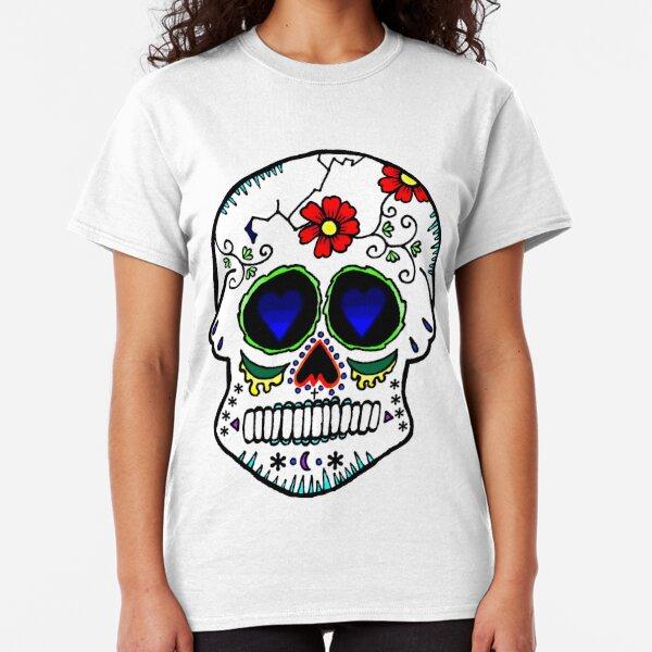 Day of the Dead Floral Vine Digital Print Skull Skeleton Maxi Dress Costume M-XL