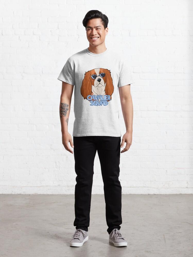 Alternate view of CAVALIER SQUAD (blenheim) Classic T-Shirt