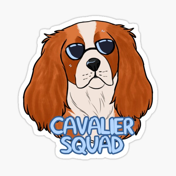CAVALIER SQUAD (blenheim) Sticker