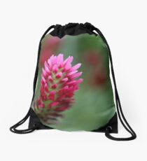 Crimson Clover Drawstring Bag