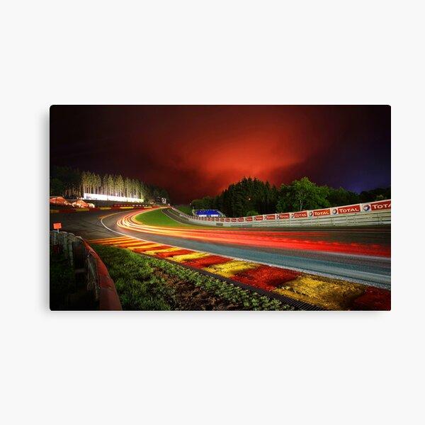 Spa Francorchamps at night Canvas Print