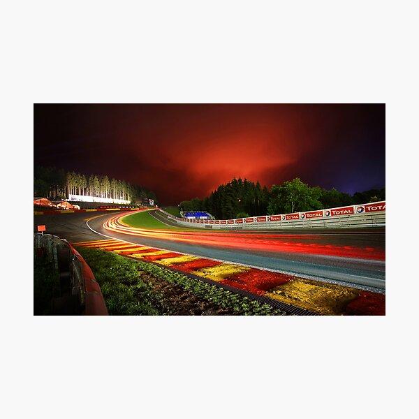 Spa Francorchamps de noche Lámina fotográfica