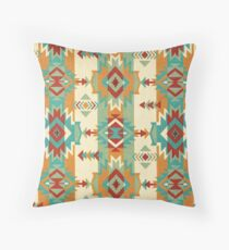 Fabric Art, Navajo Tribal, Ethnic Inspired Native American Throw Pillow