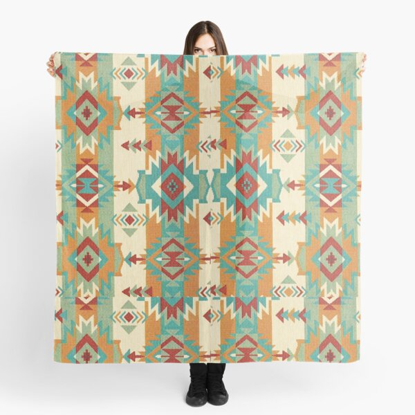 Tribal, Native American, Ethnic Icons and Symbols Scarf