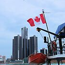 Detroit from Windsor by Michael McCasland