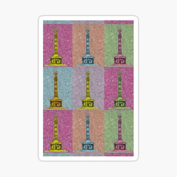 Siegessäule Drawing Meditation - Rainbow Sticker
