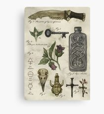 (Super)natural History - Hunter's artefacts Canvas Print