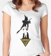 """""""Yu-Gi-Oh"""" Fan Art (Yugi Muto / Dark Magician) Women's Fitted Scoop T-Shirt"""