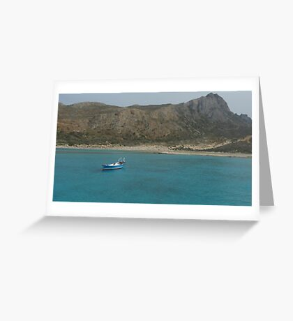 Balos Lagoon Greeting Card