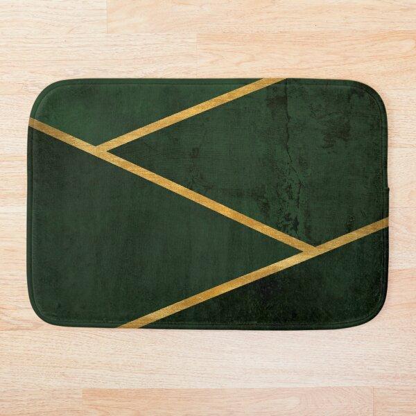 Emerald Stone and Metallic Gold Bath Mat