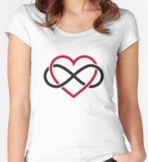 Infinity heart, never ending love Women's Fitted Scoop T-Shirt