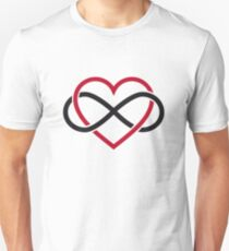 Infinity heart, never ending love Unisex T-Shirt