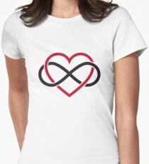 Infinity heart, never ending love Women's Fitted T-Shirt