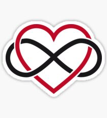 Infinity heart, never ending love Sticker